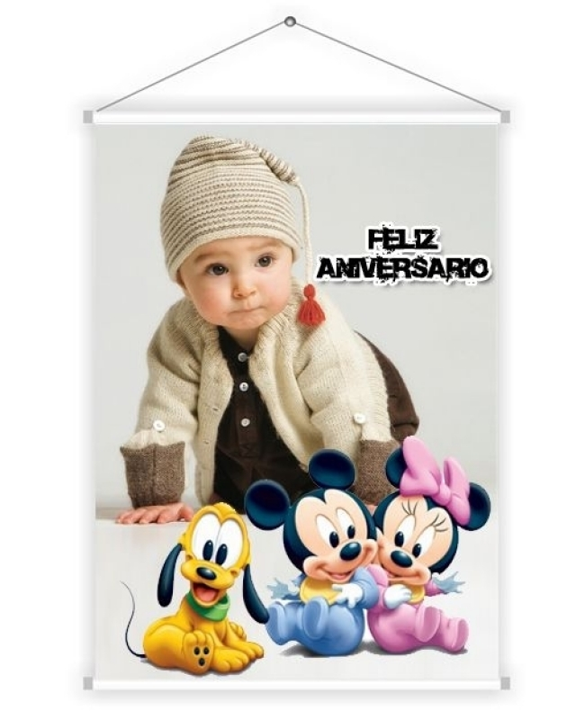 Banner para Festa Infantil Santana - Banner Colorido