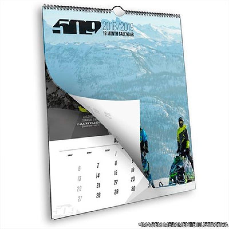 Encomendar Calendário Personalizado Brinde Sacomã - Calendário Personalizado com Logo