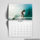 calendário personalizado grande sob encomenda Vila Morumbi