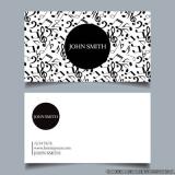 cartão de visita preto e branco Vila Uberabinha