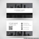 cartão de visita preto e branco