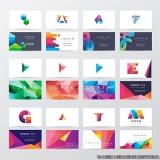 impressão de cartão de visita colorido