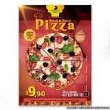 folhetos para pizzaria