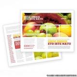 folhetos personalizado para mercado