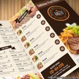 gráfica de folhetos restaurante Centro